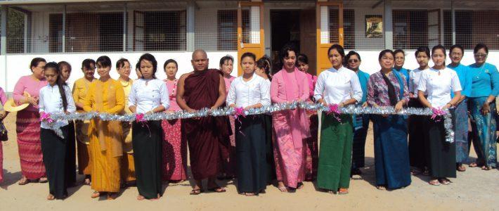 Opening Ceremony Women's dormitories at Aye Myitta San