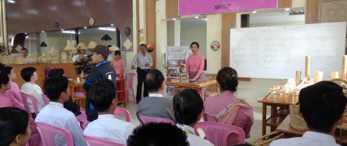 MWCDF အသင်းနှင့် Earth Vocational Training Center တို့ပူးပေါင်းဖွင့်လှစ်သော ကြိမ်၊ ၀ါး၊ လက်မှုအနုပညာသင်တန်းဆင်းပွဲအခမ်းအနား