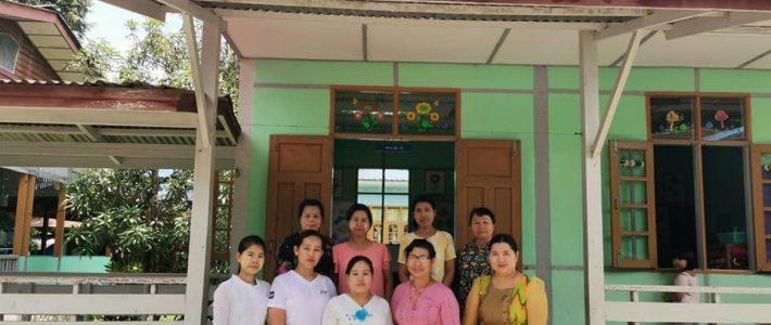 မြစ်ကြီးနားမြို့၊ အမှတ်(၁) မူလတန်းကြိုကျောင်းအတွက် လက်ဆေးဘေဇင်များ လှူဒါန်းခြင်း