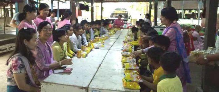 ပဲခူးမြို့နယ်၊ ပရဟိတ(ဘ.က)ကျောင်းများသို့ သွားရောက်လှူဒါန်းခြင်း